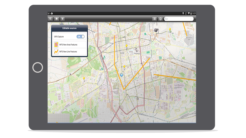 Screenshot of Mobile MapWorks